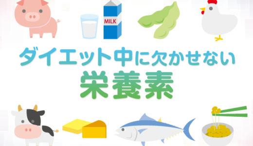 ダイエット中に欠かせない栄養素の紹介!